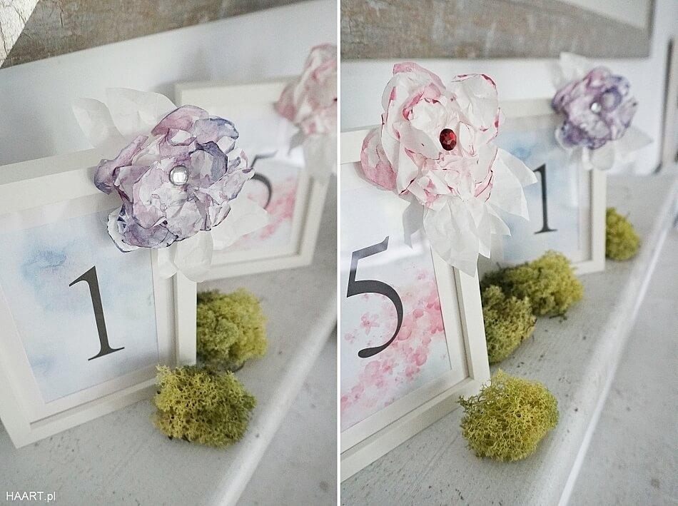 cyfry na stół weselny