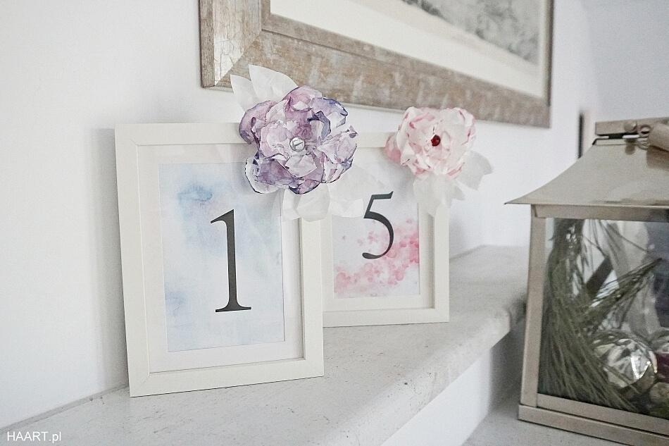 numery na stół weselny