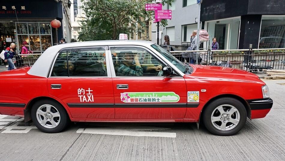 Taxi w Hong Kongu