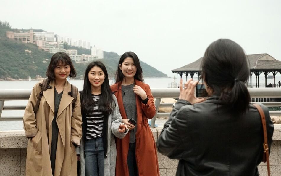 lokalne turystki, studentki, stanley village, hong kong