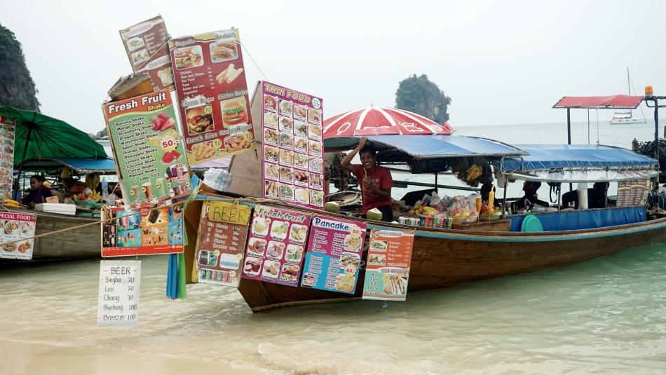 Ceny w Tajlandii na łódkach w Ao Nang