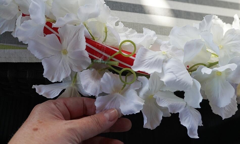 kwiaty na kole