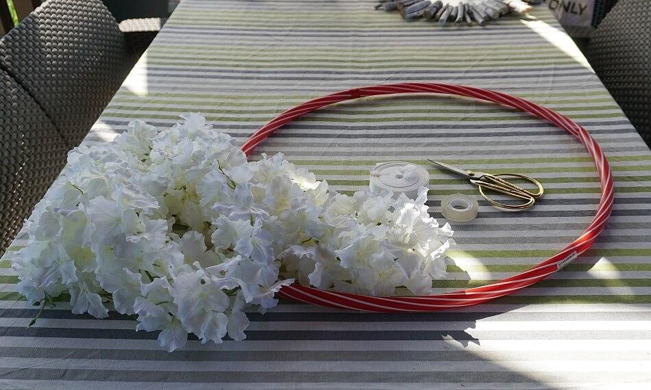 dekoracje ślubne z koła
