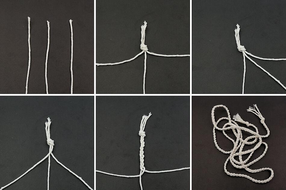 warkocz ze sznurków