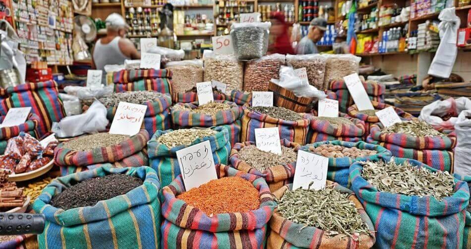akka izrael bazar turecki przyprawy