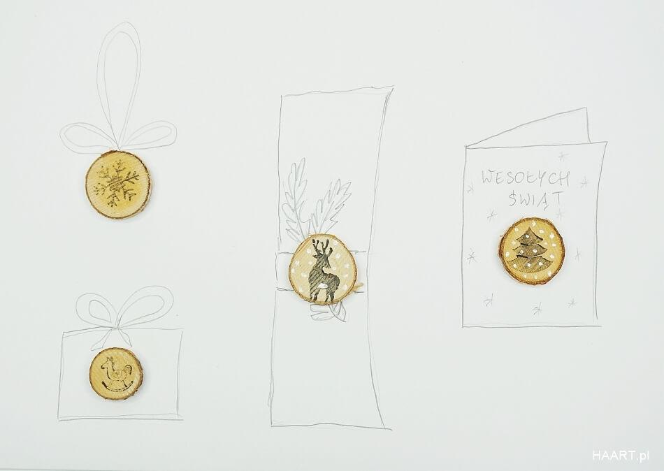 plastry z nadrukiem do umieszczenia na prezentach