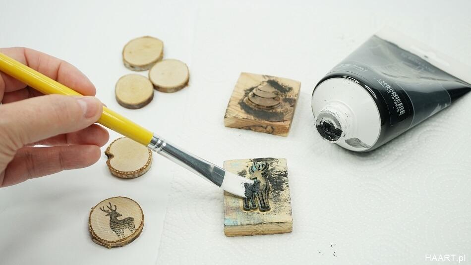 drewniane stempelki malowanie