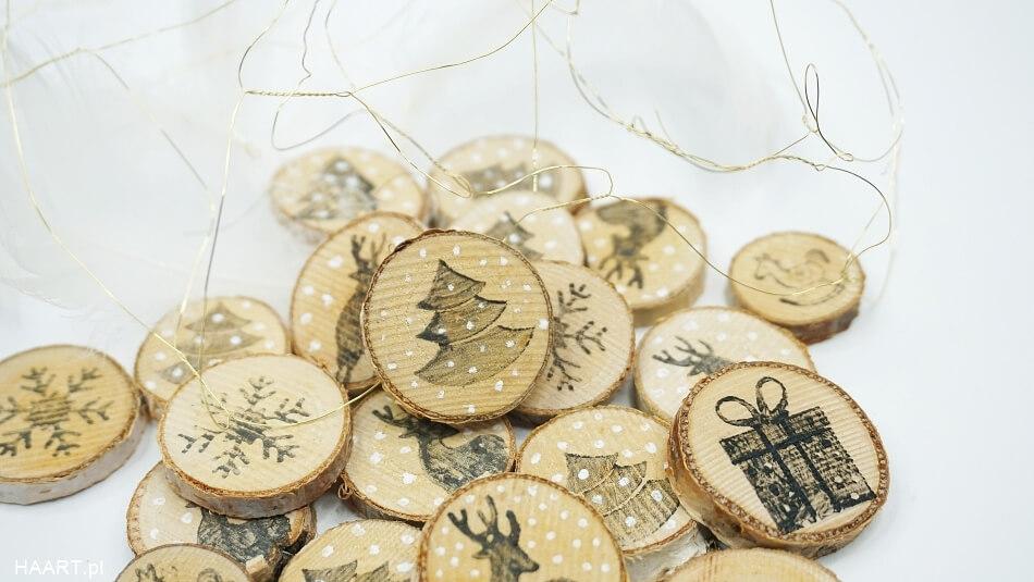 świąteczne plastry drewna