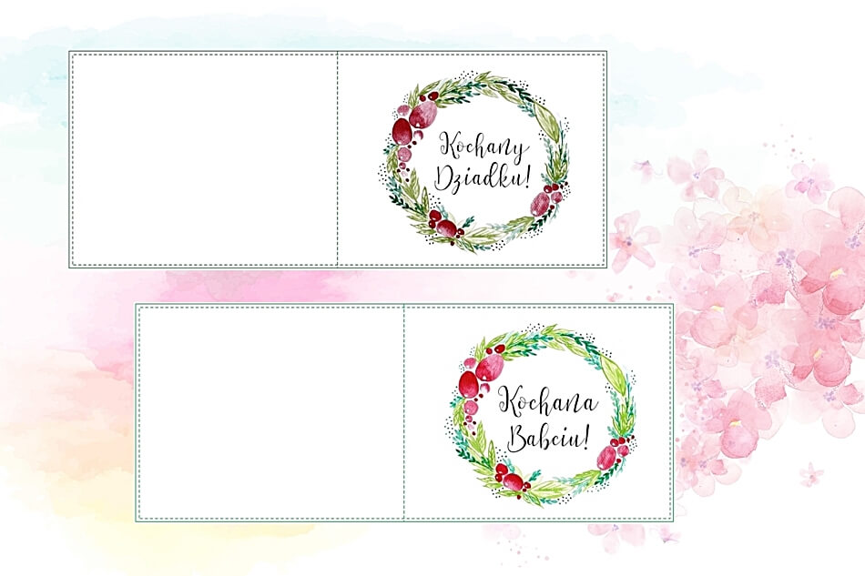 Kartki do druku na dzień Babci i Dziadka, wzór do pobrania
