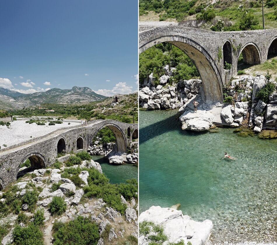 Albania Północna most Mesi