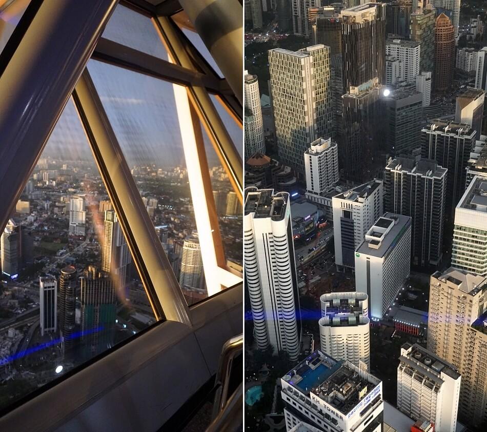 atrakcje kuala lumpur widok na miasto z menara kl tower