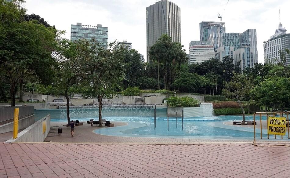 klcc park kuala lumpur basen pool