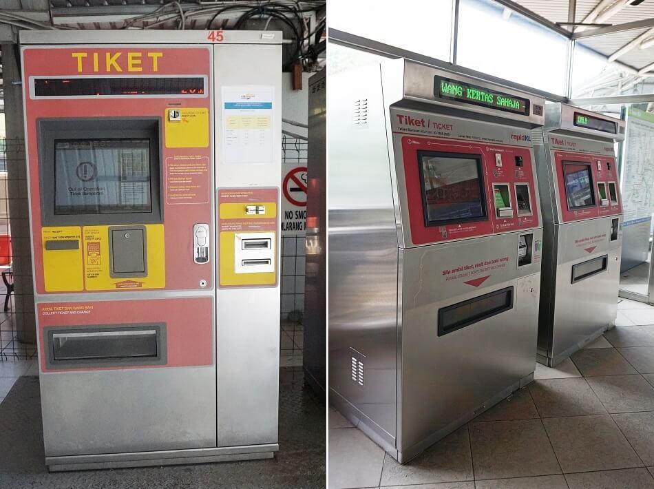 automaty biletowe, biletomat, Kuala Lumpur, malezja