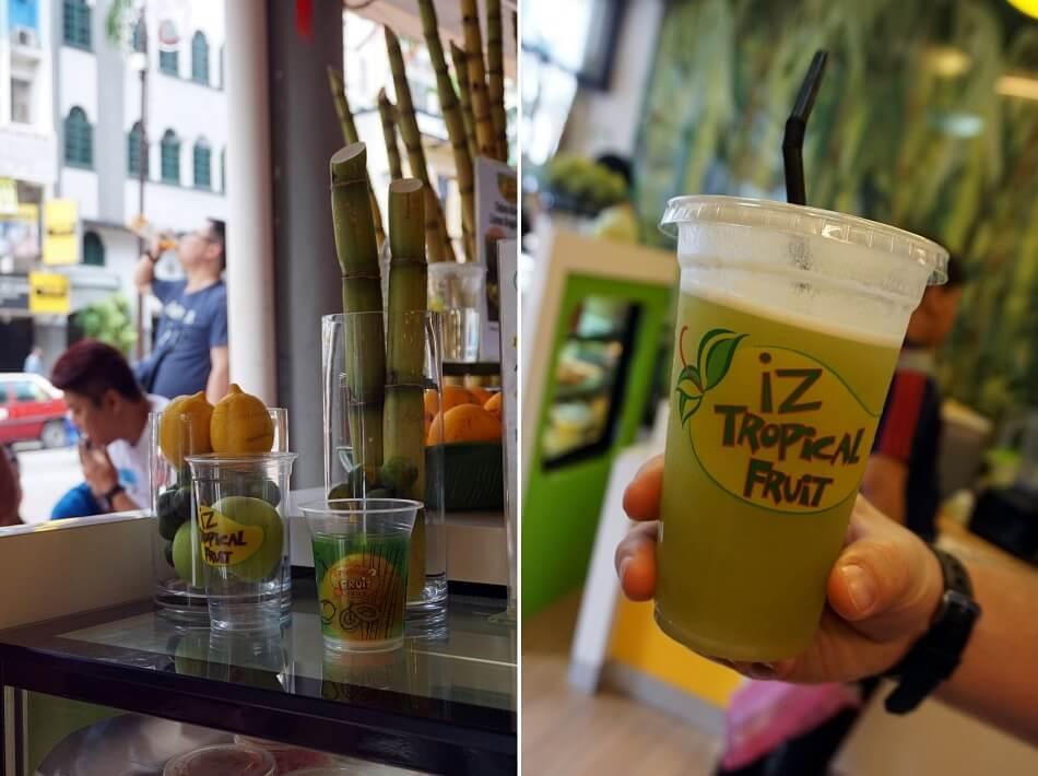 świeżywyciskany sok z bambusa Kuala Lumpur