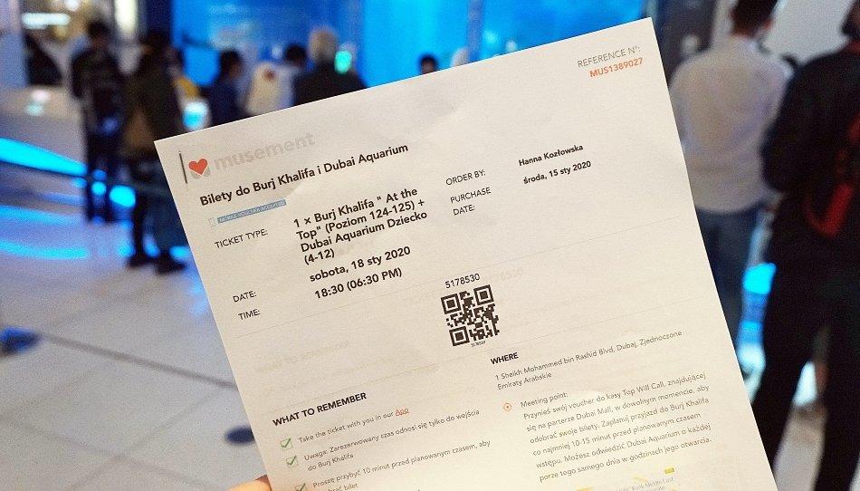 bilety online na burdż khalifa musement