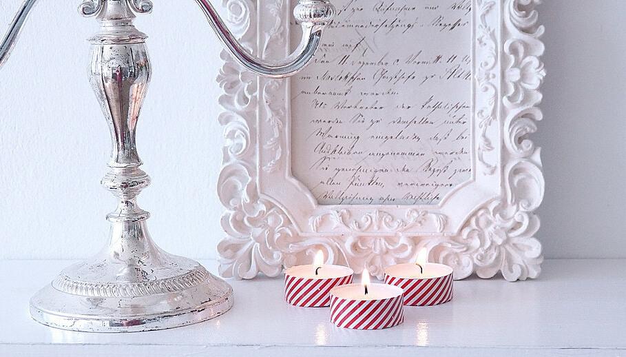 ozdobne świeczki diy, pomysł na dzień mamy