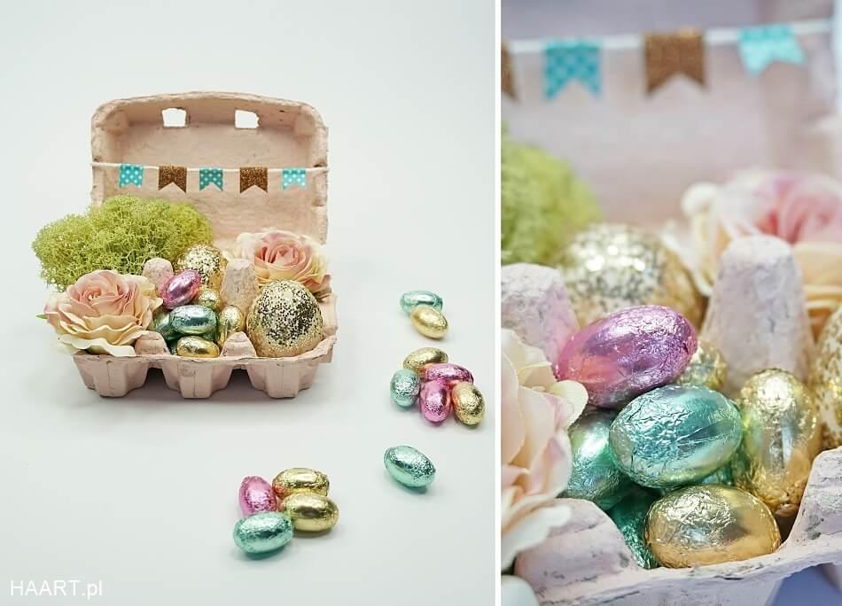 Pudełko po jajkach na Wielkanoc