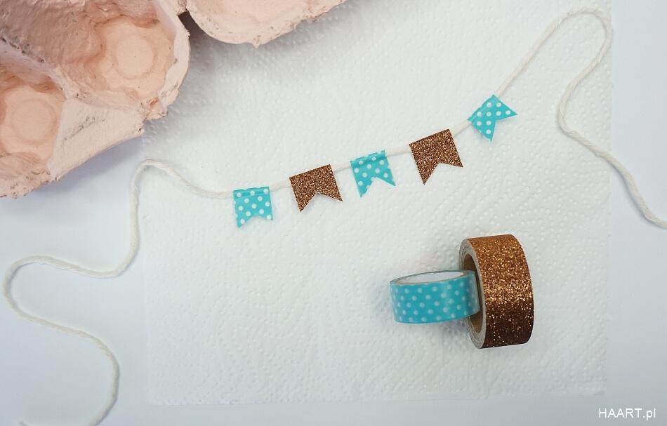 Wielkanocna dekoracja na sznurku