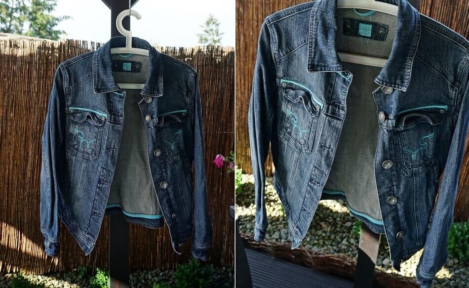 jeansowa kurtka do farbowania