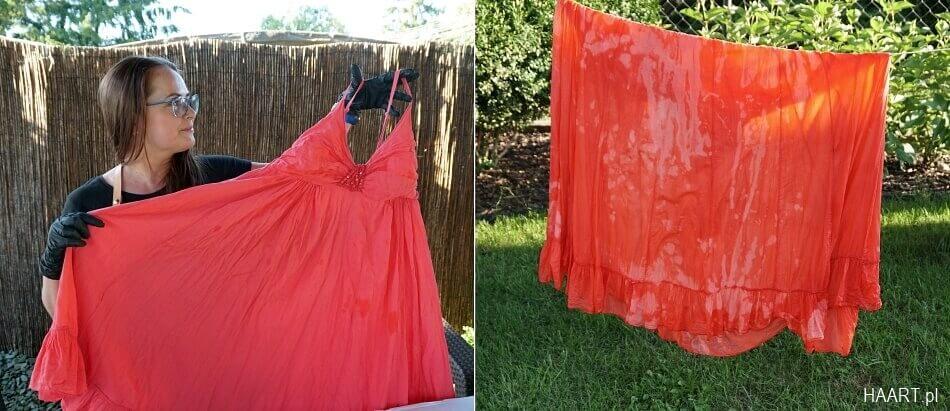 metamorfoza sukienki wybielaczem