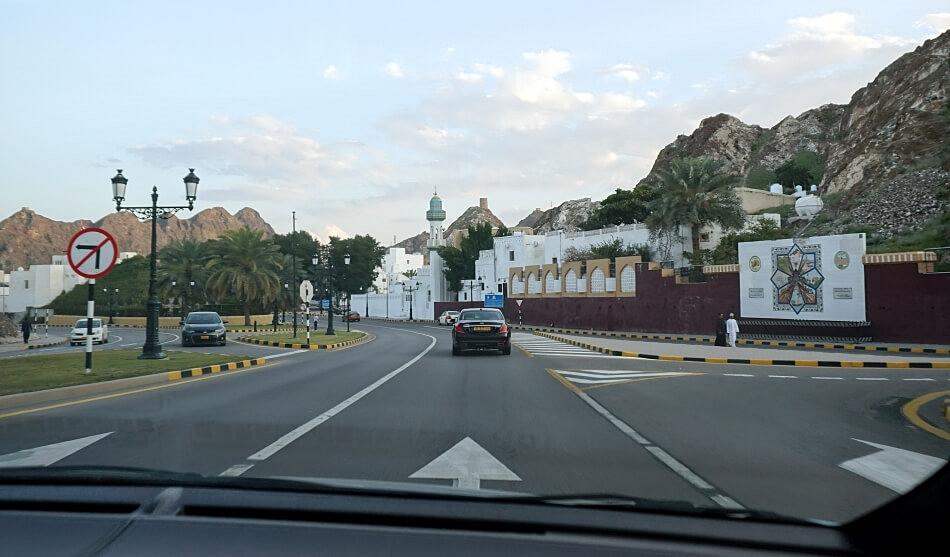 Muskat w Omanie samochodem