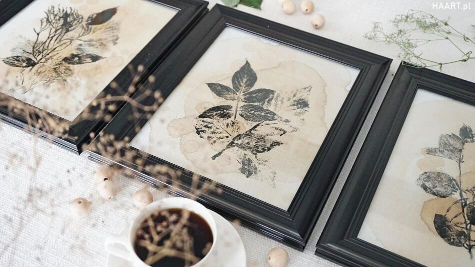 Obrazy malowane herbatą