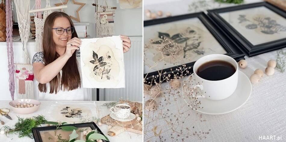 farbowanie tkanin herbatą i farbami