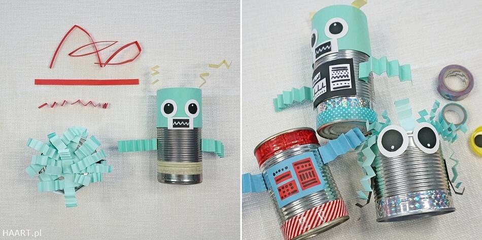 Roboty z puszek diy